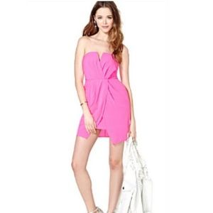 Nasty Gal Lovecat hot pink mini strapless dress